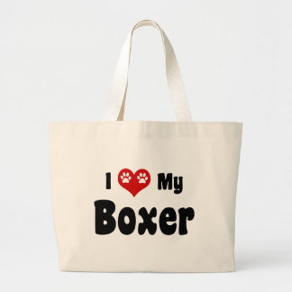 Amo a mi boxeador bolsa de mano