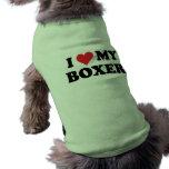 Amo a mi boxeador playera sin mangas para perro