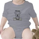 Amo a mi boxeador traje de bebé