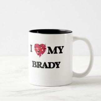 Amo a MI Brady Taza Dos Tonos