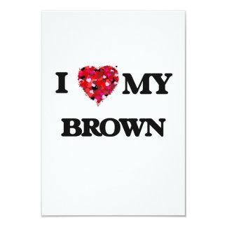"""Amo a MI Brown Invitación 3.5"""" X 5"""""""