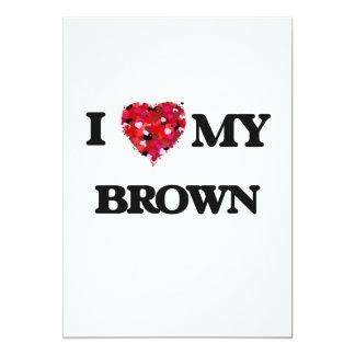 """Amo a MI Brown Invitación 5"""" X 7"""""""