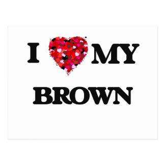 Amo a MI Brown Tarjetas Postales
