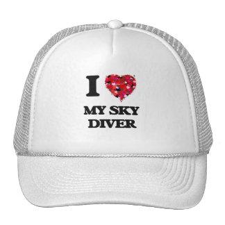Amo a mi buceador del cielo gorros