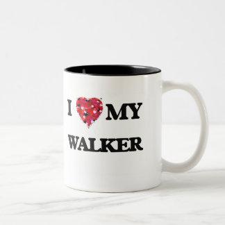 Amo a MI caminante Taza De Dos Tonos