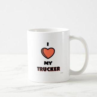 Amo a mi camionero tazas de café