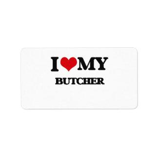 Amo a mi carnicero etiquetas de dirección