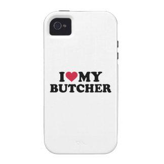 Amo a mi carnicero vibe iPhone 4 funda