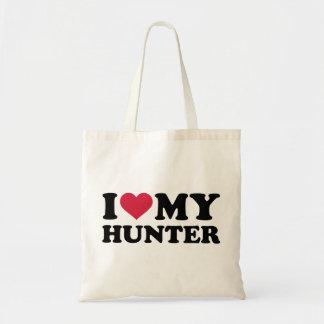 Amo a mi cazador bolsa tela barata