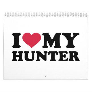 Amo a mi cazador calendarios de pared