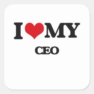 Amo a mi CEO Etiqueta