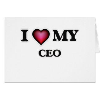 Amo a mi CEO Tarjeta De Felicitación