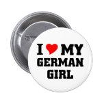 Amo a mi chica alemán pin
