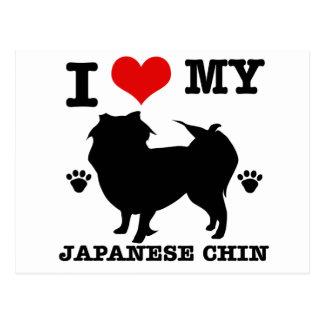 Amo a mi Chin japonés Postal
