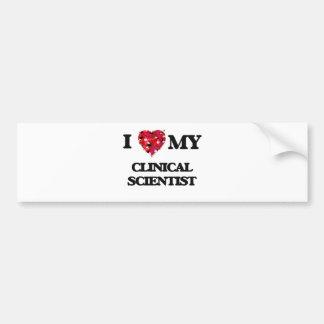 Amo a mi científico clínico pegatina para auto