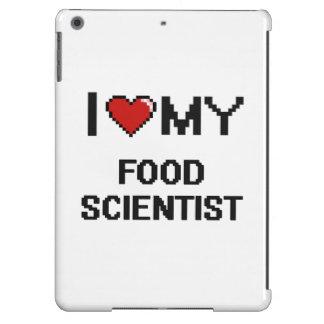 Amo a mi científico de la comida funda para iPad air