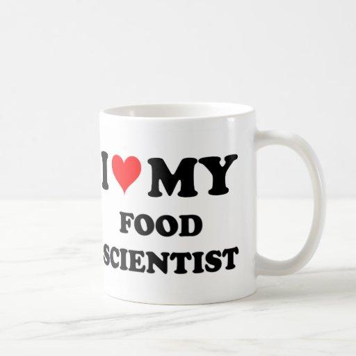 Amo a mi científico de la comida tazas