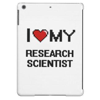 Amo a mi científico de la investigación funda para iPad air
