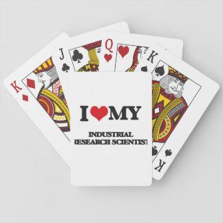 Amo a mi científico de la investigación industrial baraja de cartas