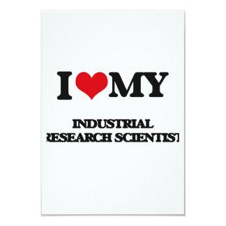"""Amo a mi científico de la investigación industrial invitación 3.5"""" x 5"""""""
