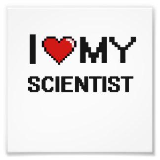 Amo a mi científico cojinete