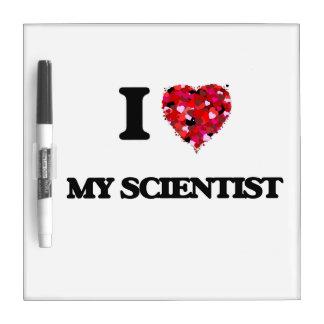 Amo a mi científico tableros blancos