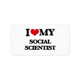 Amo a mi científico social etiquetas de dirección