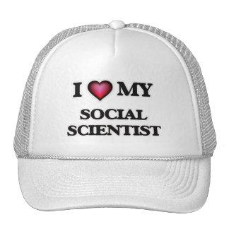 Amo a mi científico social gorro de camionero