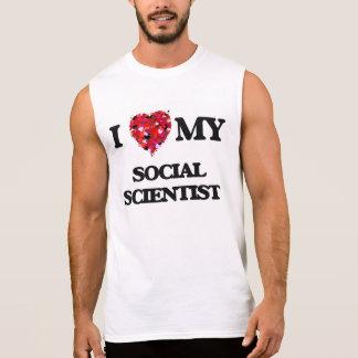 Amo a mi científico social remera sin mangas