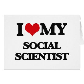 Amo a mi científico social tarjetas