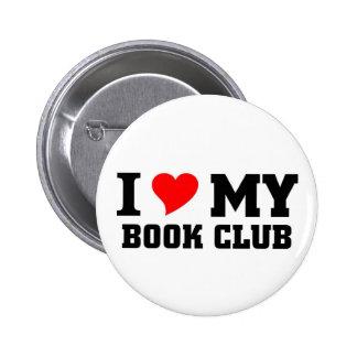 Amo a mi círculo de lectores pin redondo de 2 pulgadas