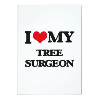 """Amo a mi cirujano de árbol invitación 5"""" x 7"""""""