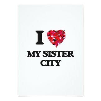 """Amo a mi ciudad hermana invitación 5"""" x 7"""""""