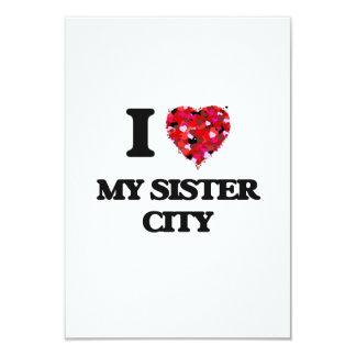 """Amo a mi ciudad hermana invitación 3.5"""" x 5"""""""
