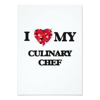 """Amo a mi cocinero culinario invitación 5"""" x 7"""""""