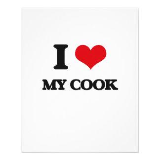 Amo a mi cocinero tarjetas publicitarias