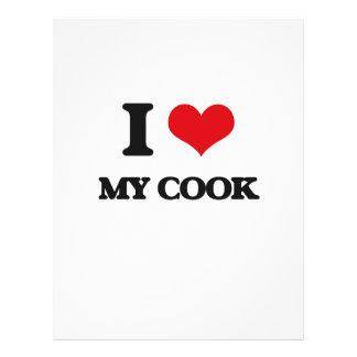 Amo a mi cocinero flyer personalizado