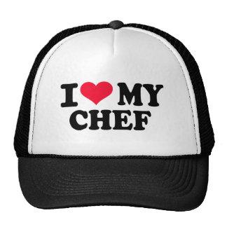 Amo a mi cocinero gorras de camionero