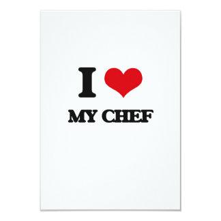 """Amo a mi cocinero invitación 3.5"""" x 5"""""""