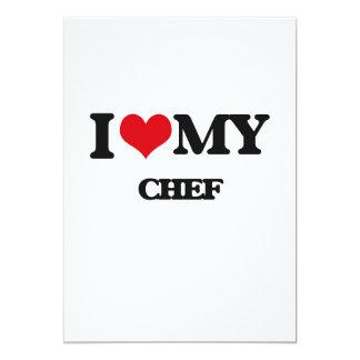 """Amo a mi cocinero invitación 5"""" x 7"""""""