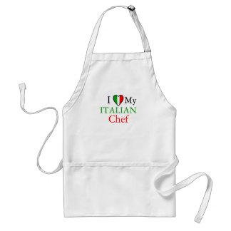 Amo a mi cocinero italiano delantal