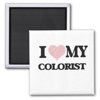Amo a mi Colorist (el corazón hecho de palabras) Imán Cuadrado
