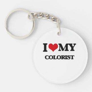 Amo a mi Colorist Llavero Redondo Acrílico A Una Cara
