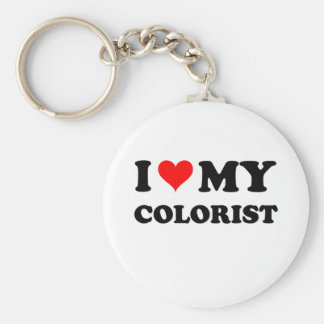 Amo a mi Colorist Llavero Redondo Tipo Pin