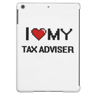 Amo a mi consejero de impuesto funda para iPad air
