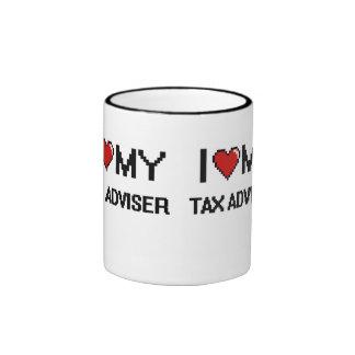 Amo a mi consejero de impuesto taza a dos colores