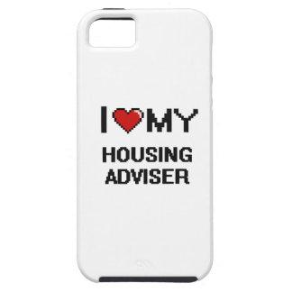 Amo a mi consejero de la vivienda iPhone 5 carcasa