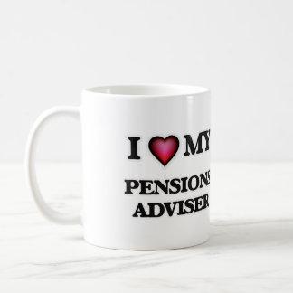 Amo a mi consejero de las pensiones taza clásica