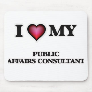 Amo a mi consultor de los asuntos oficiales tapete de ratones