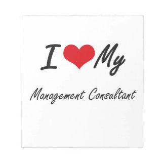 Amo a mi consultor en administración de empresas blocs de papel